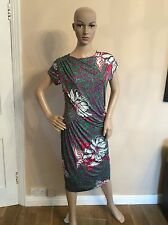 ETRO dress Size 46  Uk 12 Green Flowers Floral Women's Ladies Fitted
