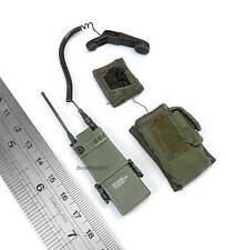 1/6 Hot Toys US Army Rangers 1st Battalion 75th Regiment AN/PRC Radio + Pouch