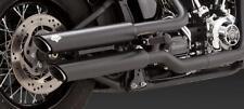 Vance Hines Harley-Davidson Softail Twin Slash 3 Slip-On Black Muffler 46841