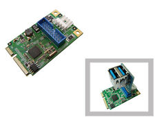 Carte MiniPCIe - USB3 SUPERSPEED - 2 PORTS - Mini PCI Express  Adaptateur 19 pts