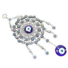 Turkish Blue Evil Eye Elephant Circle Ring Amulet Wall Hanging Decor Protection