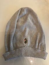 Luke Men's Light Grey Charcoal Knitted Slouchy Beanie Hat 100% Cotton