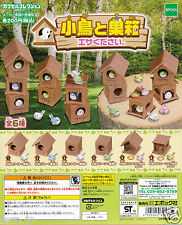 Small bird and Birdhouse - Feed me Complete set Gashapon EPOCH Japan