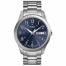 Timex T2M933, Men's Silver-Tone Expansion Watch, Indiglo, Day/Date T2M9339J