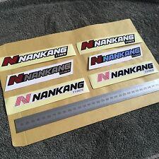 6 X Ruedas Pegatinas Motorsport NANKANG Caja de herramientas Calcomanías