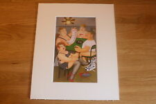 "BERYL COOK ""STRIP POKER"" MOUNTED CARD 10 X 8 FUNNY"