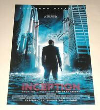 "INCEPTION CAST X4 PP SIGNED 12""X8"" POSTER ELLEN PAGE LEONARDO DICAPRIO"