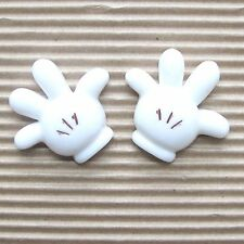 "US SELLER - 10 pcs x (1 1/8"") Resin Mouse Glove/Hand Flatback for Mickey SB481"