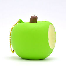 New 8CM One Bitten Apple Squishy Slow Rising Ballchains Toy Scented Strap Charms