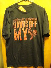 SRIRACHA OFFICIAL ~ NWT ~ Men's Large ~ Hands Off My ROOSTER ~ COCK ~ T Shirt