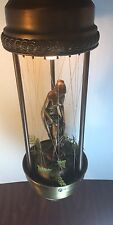 Vintage Mineral Oil Motion Rain Lamp Naked  Godess Figurine Hanging Lamp