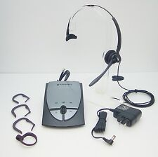 Plantronics S12 Telephone Headset System With Firefly Headset & USA Wall Adapter