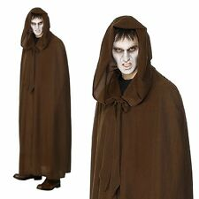Gravekeeper Cloak Grim Reaper Horror Cosplay Mens Halloween Fancy Dress Costume