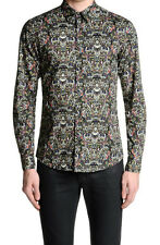 Just Cavalli Men's Multi-Color Long Sleeve Casual Shirt US S IT 48