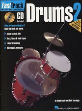 Fast Track Drums Learn to Play Beginner Drummer Lesson Music Book 2 & CD