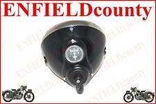 "BLACK RAW PAINT BSA NORTON ARIE RE HEAD LIGHT ASSEMBLY 7"" LUCAS TYPE@ ECspares"