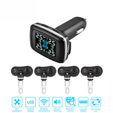 Car Auto Wireless TPMS Tyre Pressure Monitoring Alarm System built -in Sensors