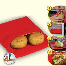1 x Microwave 4 Minutes Jacket Potato Bag  Reusable Washable Cook Express Cooker