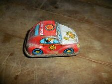 """Vintage Tin Toy Wind Up Fire Chief Car  Made in  Japan 3"""""""