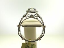 VERRAGIO 14K PARISIAN D-DL106R SEMI-MOUNT 0.55CT DIAMONDS-SIZE 6 US-RETAIL$3140