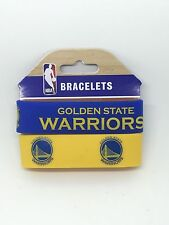 NBA Golden State Warriors Rubber Silicon Bracelet Wristband 2-Pack