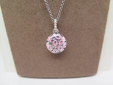 New w/Box Pandora Breast Cancer Pendant w/ 80 CM Chain #390326EN24-80 FREE CLOTH