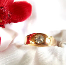 alter vergoldeter Ring mit Steinchen Fingerring Double / pp 427