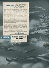 1952 Rohm & Haas Plexiglas Ad Aviation Jet Fighters Military Airplanes Canopies