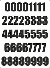 Number sheet sticker vinyl decal car bike door wheelie bin black race
