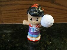 Fisher Price Little People NEW Sport Girl Asian Volleyball Player ball Olympic