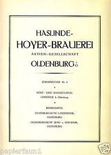 Cervecería Haslinde hoyer Oldenburg XL publicitarias de 1924 Ohmstede anuncio de cerveza ad