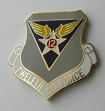 12TH USAF TWELFTH AIR FORCE UNITED STATES LAPEL PIN BADGE 1 INCH