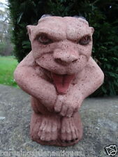Vintage Gothic English Stone Guardian Gargoyle Garden Balcony Porch Statue