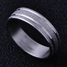 B1401 Nice White Gold Filled mens Boy's Band Ring Size 6#