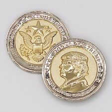 Donald Trump Coin COMMEMORATIVE INAUGURATION 2017, 24K GOLD/925 Silver Plated