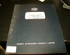 SPERRY PITCH TRIM INDICATOR P 963 OVERHAUL MANUAL FEB 1962