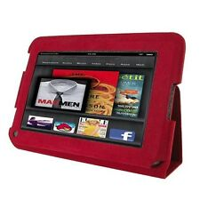 """rooCASE Ultra-Slim Leather Folio Case for Amazon Kindle Fire 7"""" - RED"""