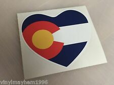 Colorado heart sticker skiing snowboarding Rocky Mountains Breck Aspen Vail CO