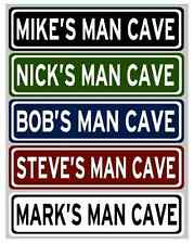 "Custom ""MAN CAVE"" Street Sign, Choose Your Text, 6""x24"" Aluminum"
