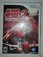 No More Heroes 2: Desperate Struggle (Nintendo Wii, 2010) New and Sealed