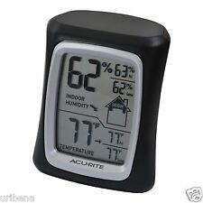 Indoor Temperature and Humidity Sensor AcuRite 00325 Home Comfort Monitor Black