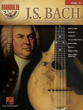 J.S. Bach Mandolin Play Along 8 Songs! Tab Book Cd NEW!
