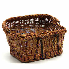 Vintage Style Wicker Bicycle Basket Sturdy Light Weight