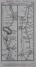 ORIGINALE ANTICO MAPPA Galles, Brecon, Carmarthen, Pembroke, PATERSON 1785