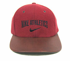 90S DEADSTOCK VTG NIKE GREY TAG WOOL W/ LEATHER BRIM 6 PANEL HAT OG ACG AIR MAX