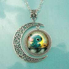 Stitch And Turtle necklace Moon pendant Friendship jewelry Lovely pendants gift