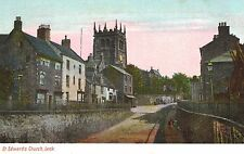 Leek,U.K.Village Street,St.Edward the Confessor Church,Staffordshire,c.1909