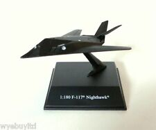 Newray diecast miniature model F117 Nighthawk aeroplane scale 1:180 with stand