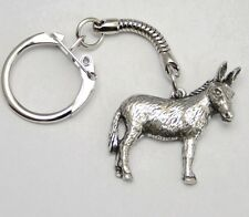 Donkey Lovers Key-ring (keychain) in Fine English Pewter, Handmade