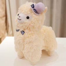 "6"" Arpakasso Alpacasso Llama Soft Stuffed Plush Cushion Doll Hat Bowknot Yellow"